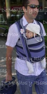 Marcos, 14 semanas, se va de compras con papá