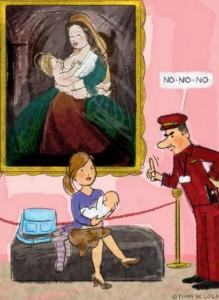 Teta en el museo, una ilustración de Mamá de Lola