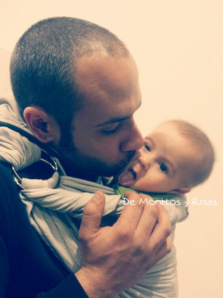 Dani con el pequeño Unai