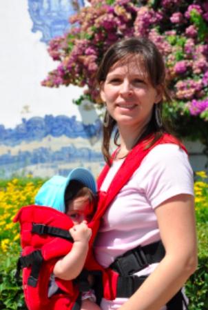 Rocio VdH con su mochila
