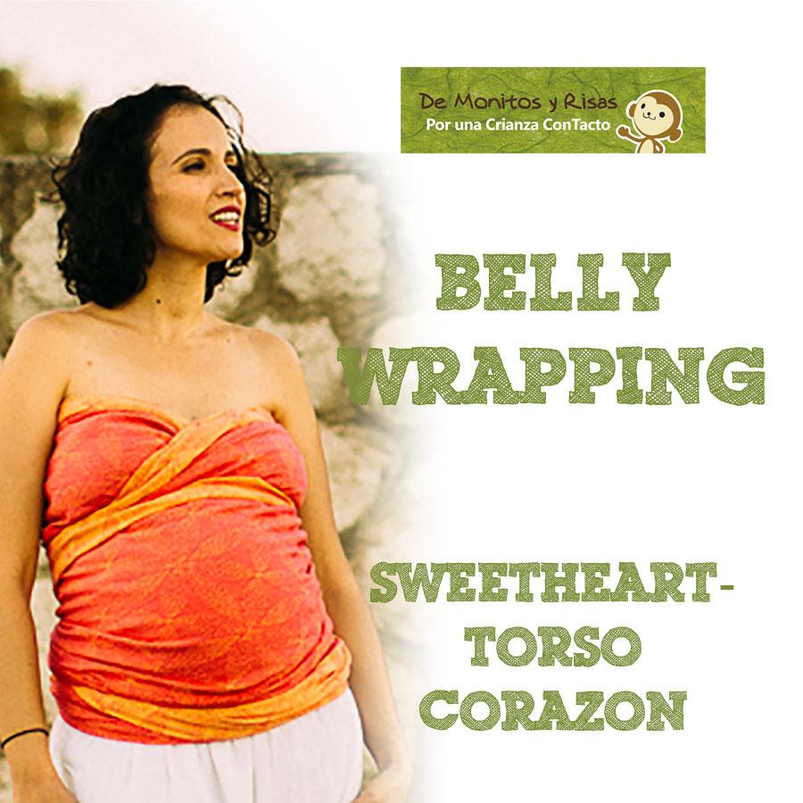 Belly Wrapping acabado corazón