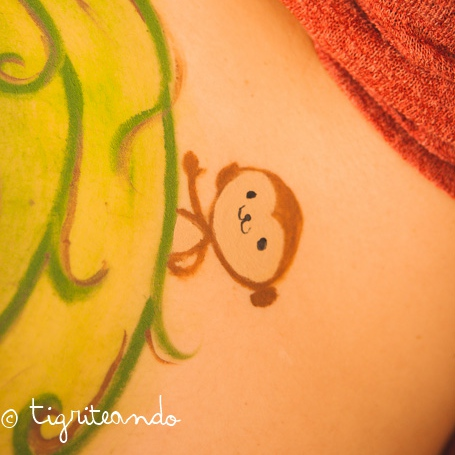Bellypainting a tres bandas