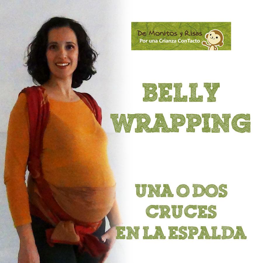 Bellywrapping con fular de talla media
