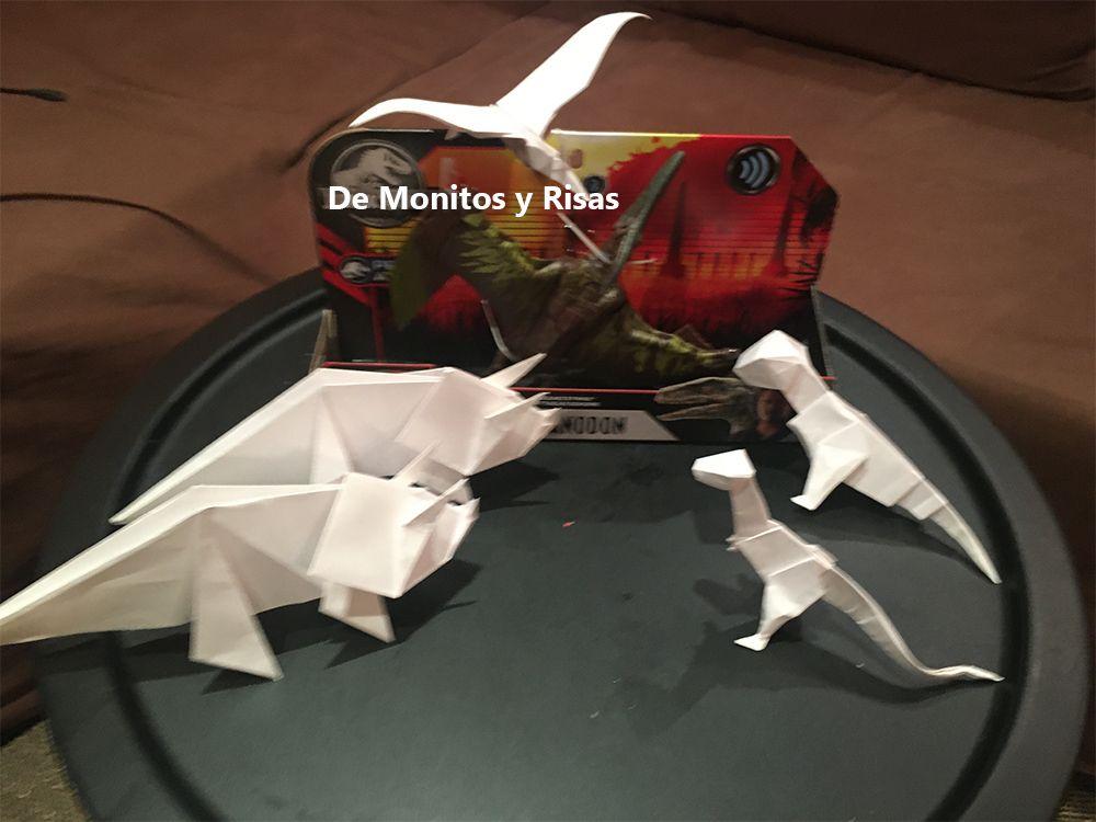 Dinosaurios origami.